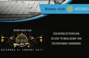 Rotary Night Club op Golfclub Witbos